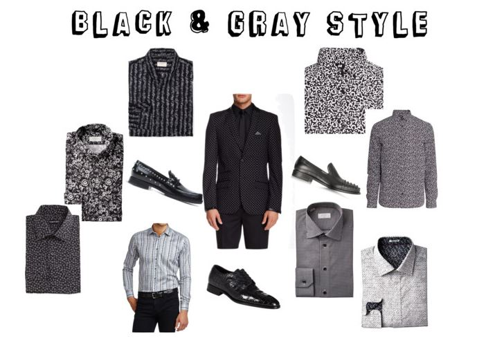 Men's Black and Gray Style