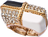 blu-bijoux-gold-black-white-and-crystal-quadrangle-stretch-ring