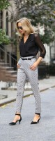 chiffon blouse embellished pants
