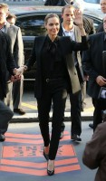 black outfit menswear angelina jolie
