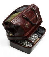 holiday gifts men's leather travel bag