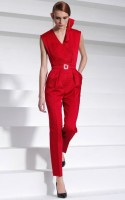 opera style red jumpsuit