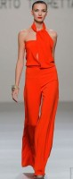 red side neck jumpsuit