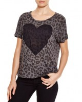 Sundry heart animal print tee