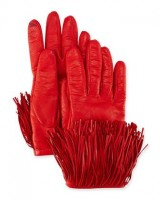 Valentine's Day gifts DVF fringe red gloves