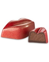 Valentine's Day hot lips truffles