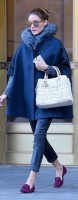 blue cape with fur olivia palermo