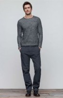 mens' gray sweater and pants