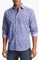 men's print button down shirt