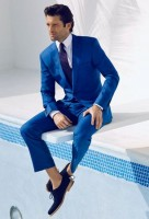 men's suit style blue shoes