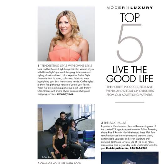 DC Modern Luxury + Divine Style Top 5 Businesses March 2016 Fashion Issue