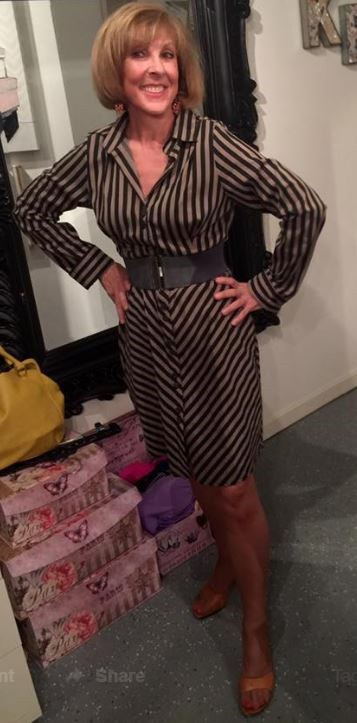 Transition to Fall dresses, Keula Binelly couture striped shirtdress