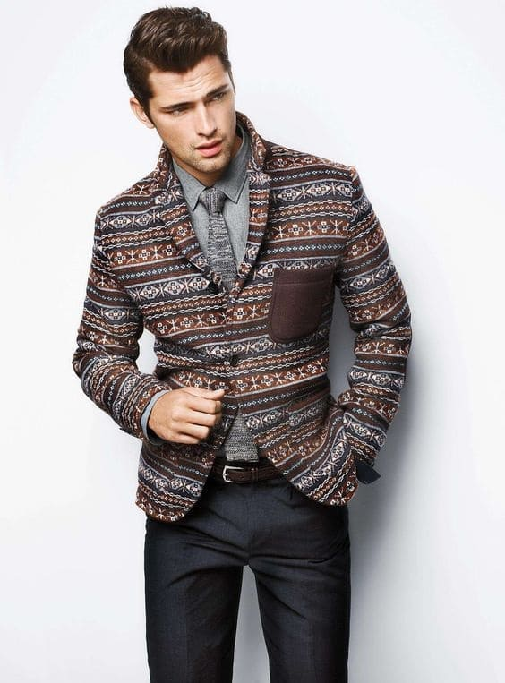mens business casual print blazer print swacket - Business Casual Men Business Casual Attire For Men