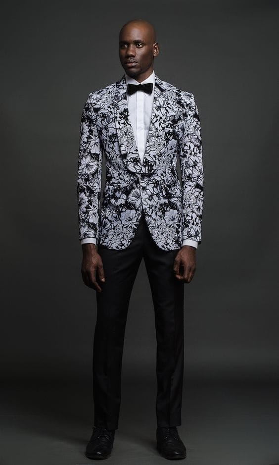 Mens White Floral Shirt