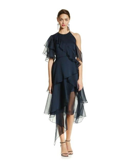 5 Dress Styles Every Woman Should Own, update your lbd to navy dress, Keepsake Say You Will Tiered Dress navy
