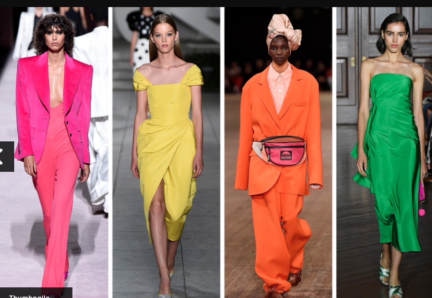 ng 2018 Fashion Trends, bold saturated colors