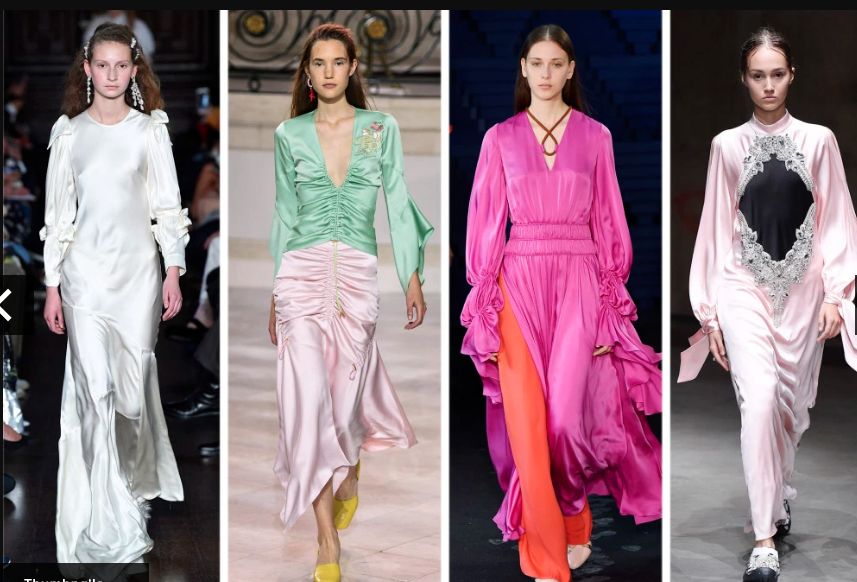 8 Fashion Trends, satin and shine
