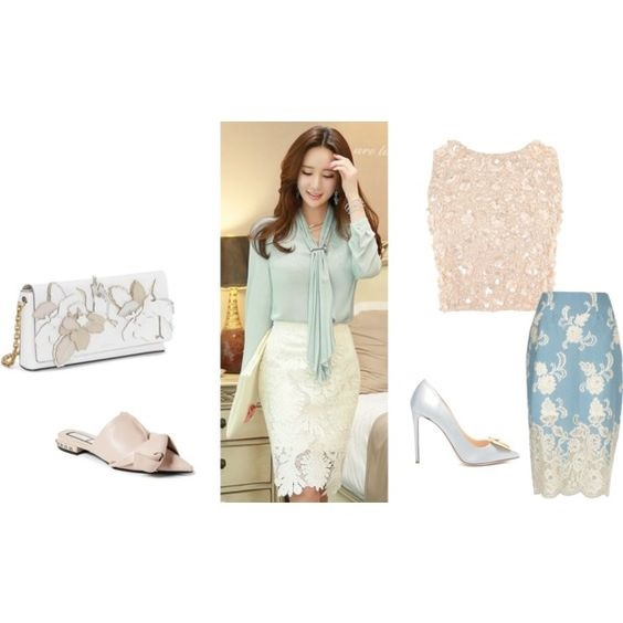Pastels to Lace…Grown-Up Easter Dresses, modern lace, lace skirt and top