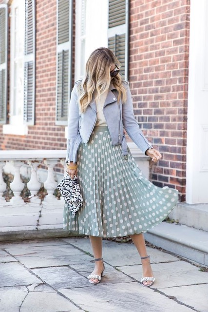 7 Things You Shouldn't Have in Your Closet After 30, mini-skirt, green polka dot maxi skirt