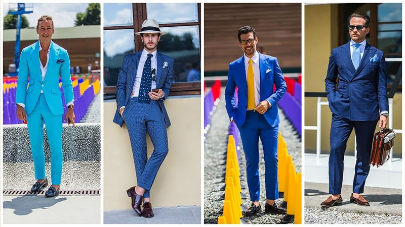 Men's Spring Suiting with Print Button Downs