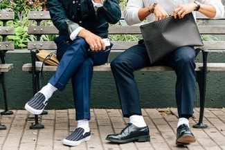 7 Things You Should Never Wear on a Date, white socks with dress shoes