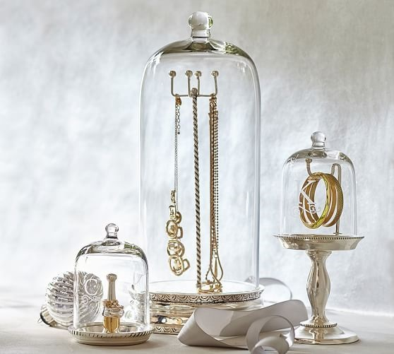 Jewelry Organization…Keep Your Jewels in Style, glass jewelry holders