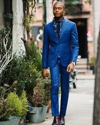 Men's Fall Fashion Staples 2018, chelsea boot, blue suit, denim shirt, red leather chelsea boots