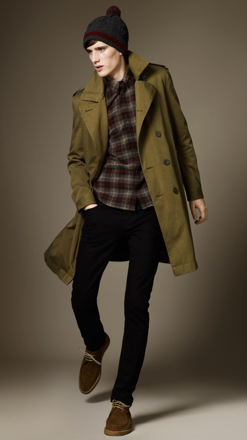 Men's Fall Fashion Staples 2018, trench coat, men's Burberry olive green trench coat