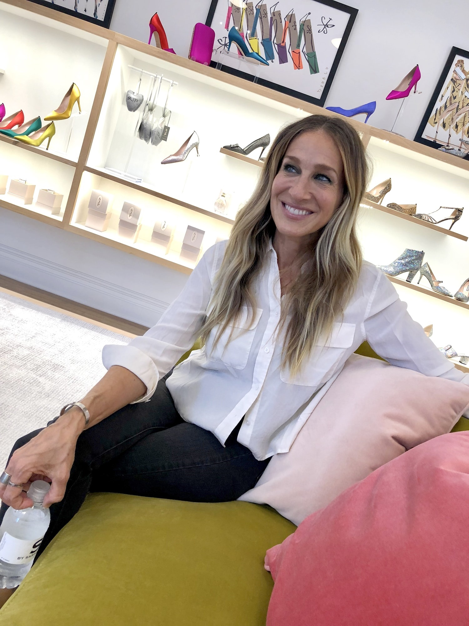 SJP by Sarah Jessica Parker NYC shoe store interior