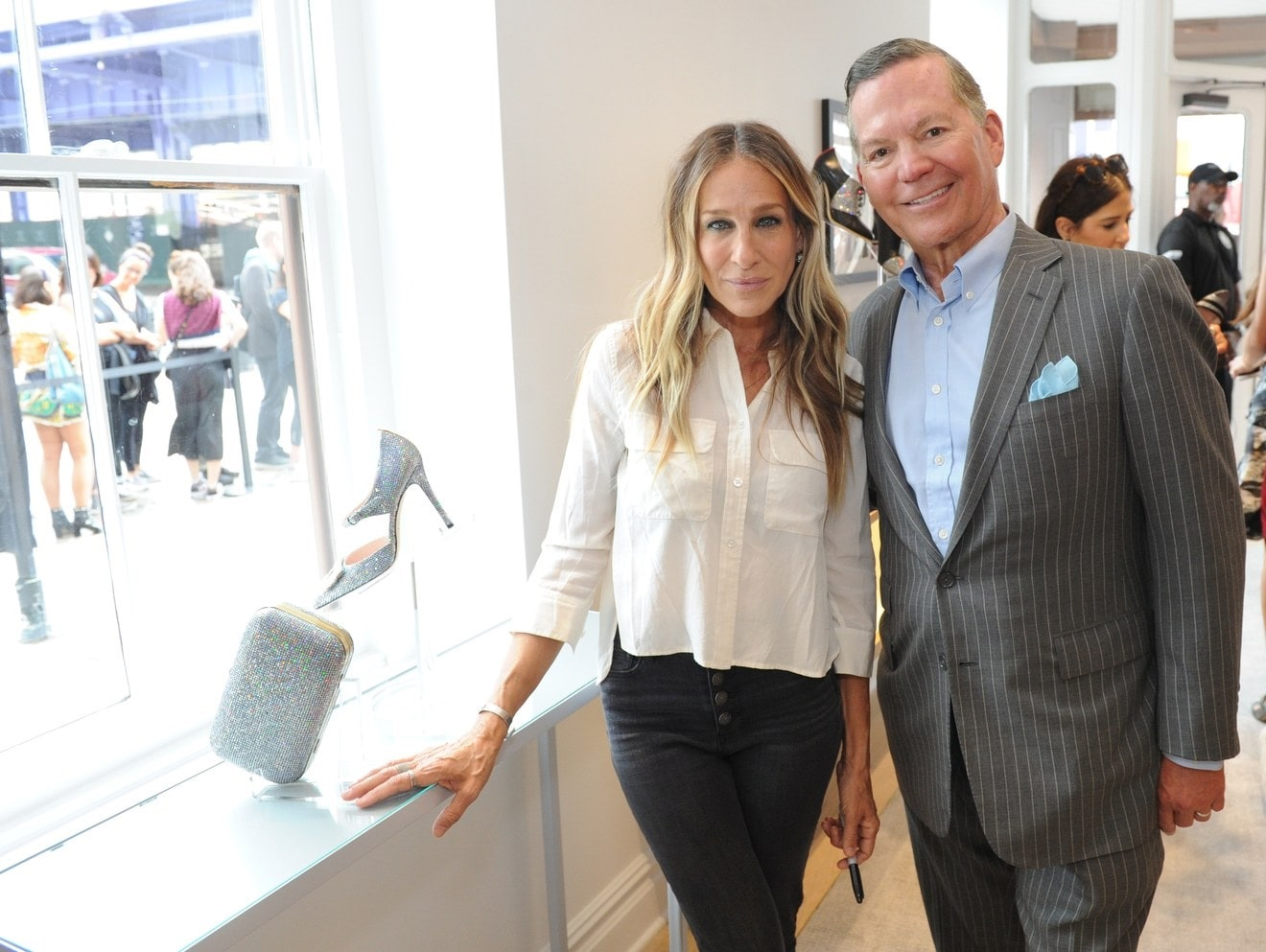 SJP by Sarah Jessica Parker NYC shop opening with George Malkemus, the CEO of Manolo Blahnik