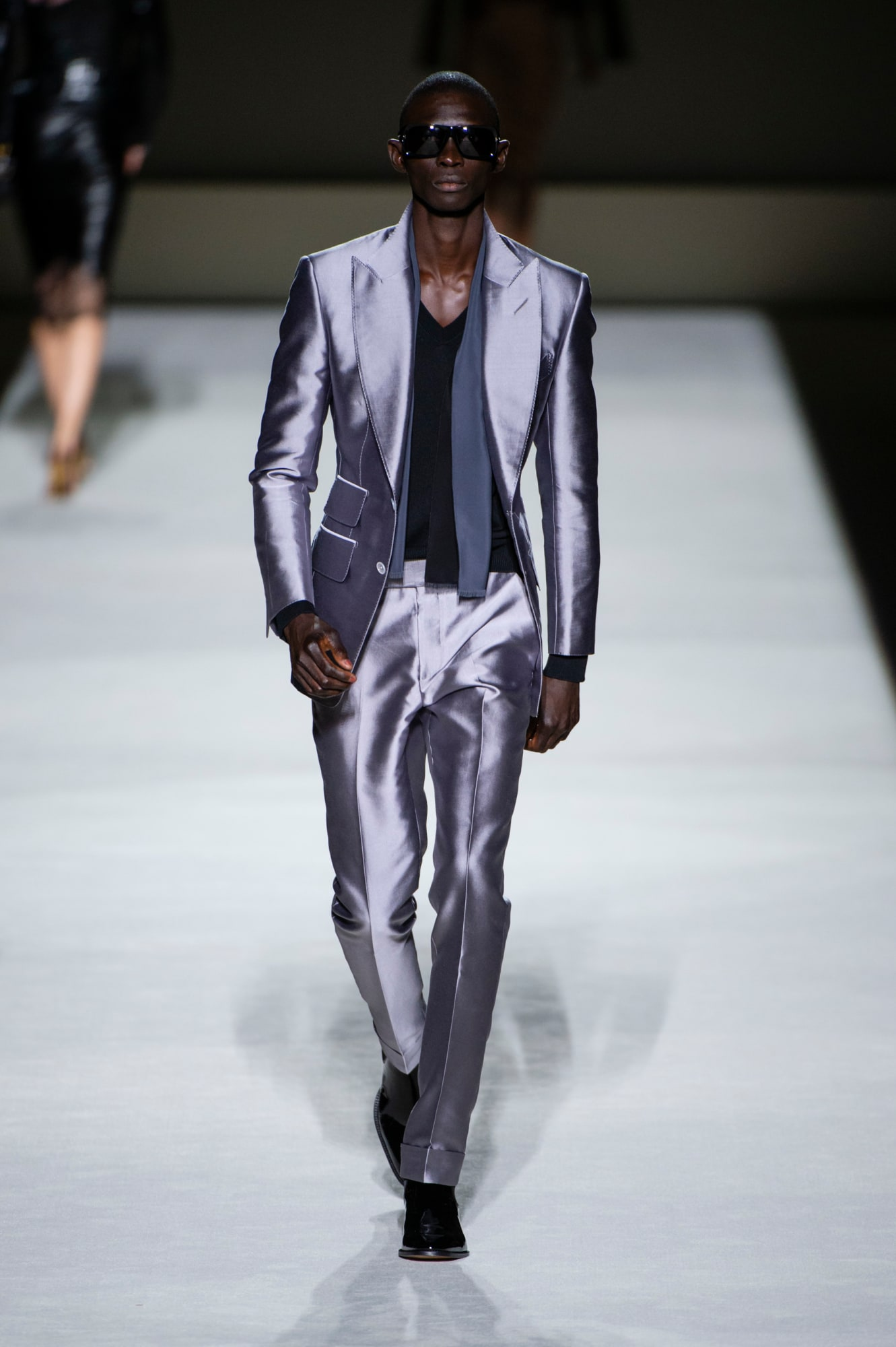 Tom Ford spring 2019 collection, men's metallic suit