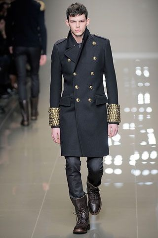 5 Stylish Coats that Completely Change Your Look Men, military coat, Burberry Prosum men's military coat and boots