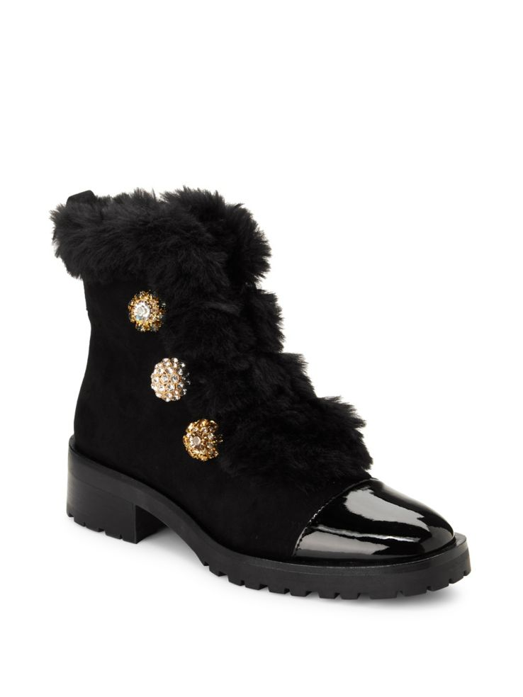 Stylish Warm Winter Boots that Grab the Eye, Nanette By Nanette Lepore Ingrid faux fur combat booties