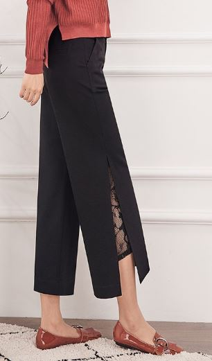 Are Pants the New Clothes du Jour? split seam cropped black pants with sweater and flats