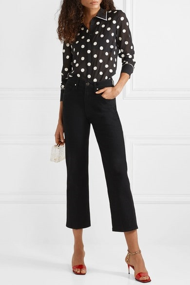 Style Rules to Break, sequins at night, sequin blouse, ALICE + OLIVIA Vina sequin-embellished chiffon blouse