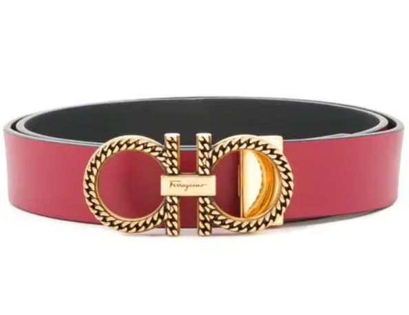 Valentine's Day Gifts for the Someone Special, men's red belt, Ferragamo double Gancio red belt