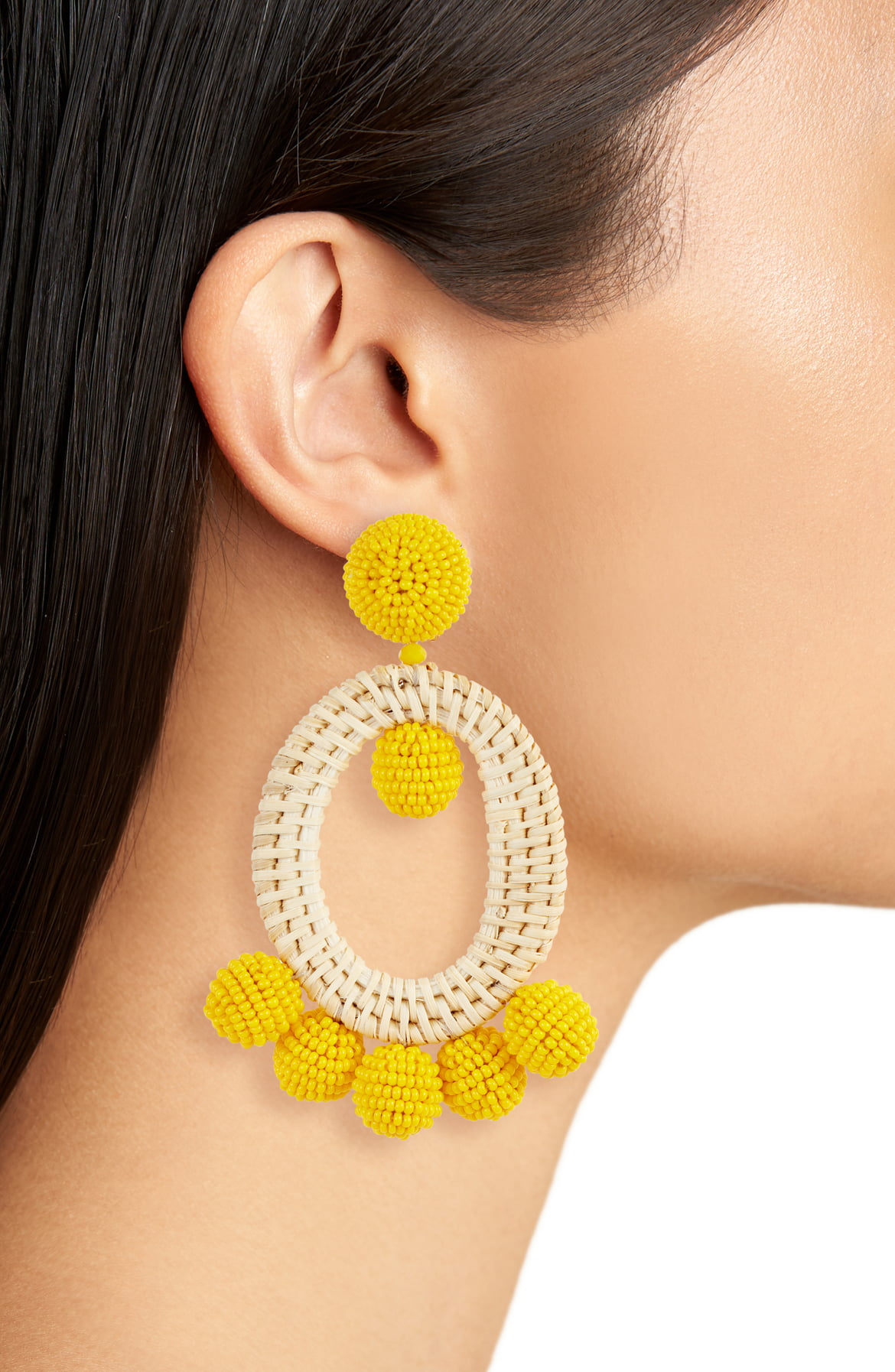 Spring's Must Wear IT color yellow, yellow jewelry, Sachin & Baby panama drop earrings