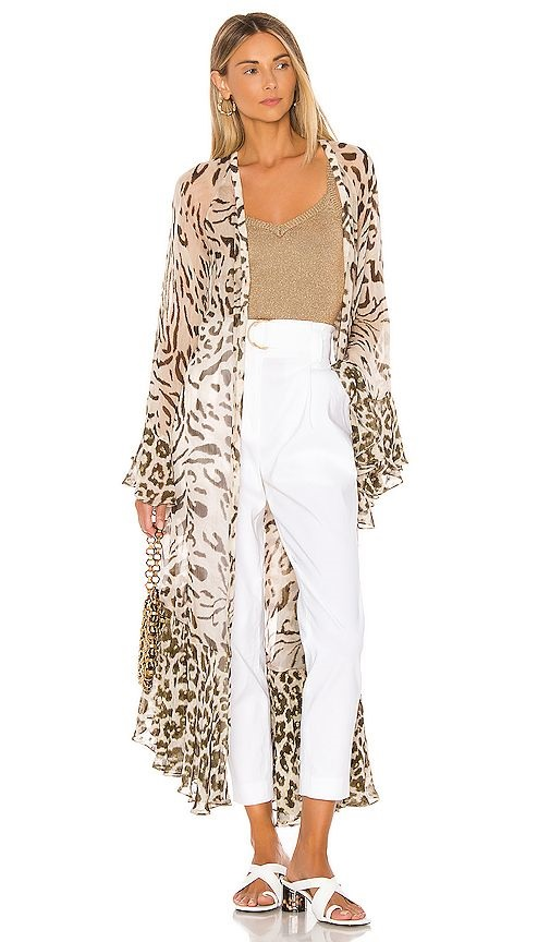 How to Make Bohemian Style Chic and Modern, caftans and kimonos, animal print kimono