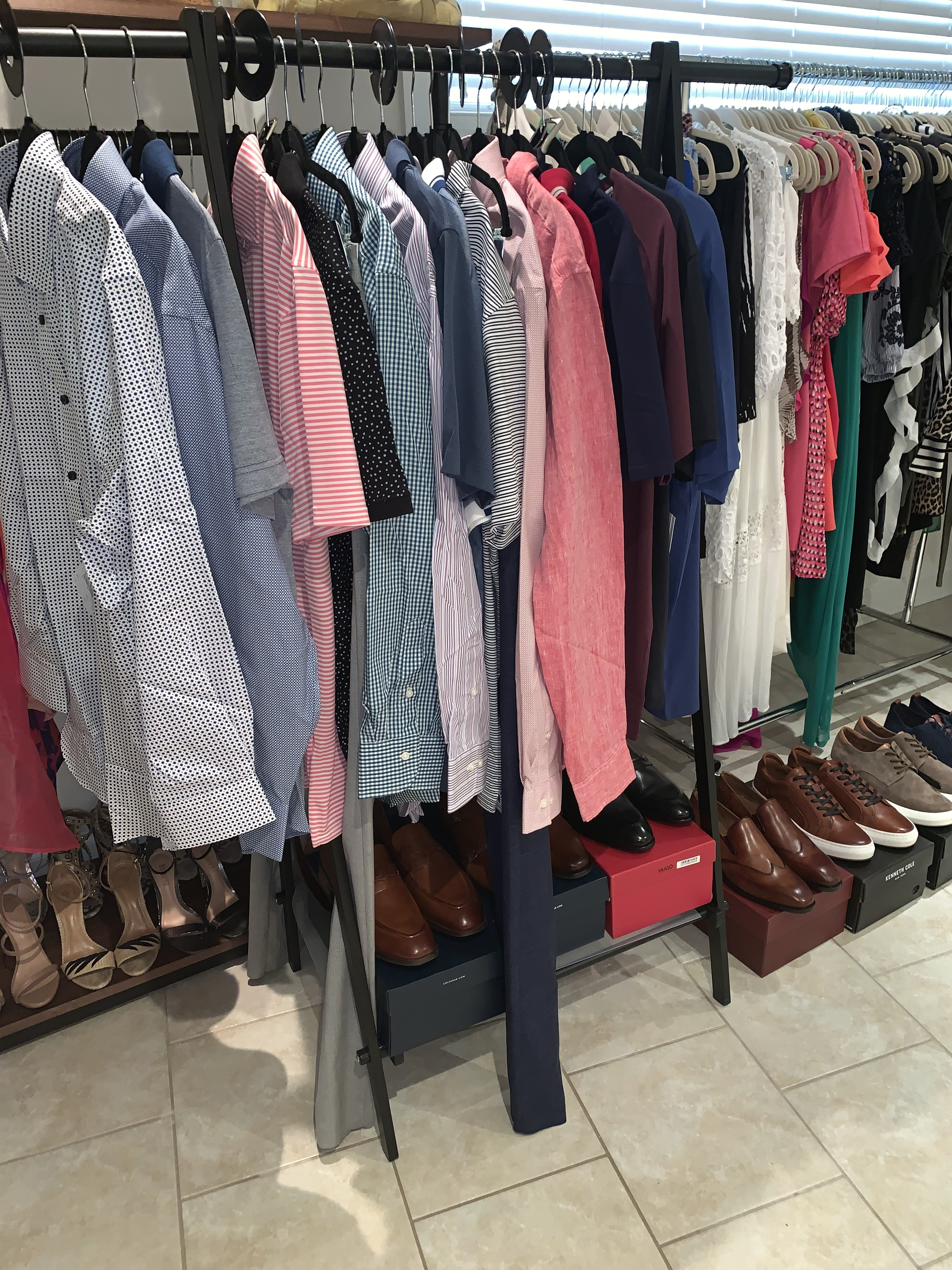 Men's summer shopping, men's summer personal fitting, men's business casual attire, men's stylist, men's personal fitting