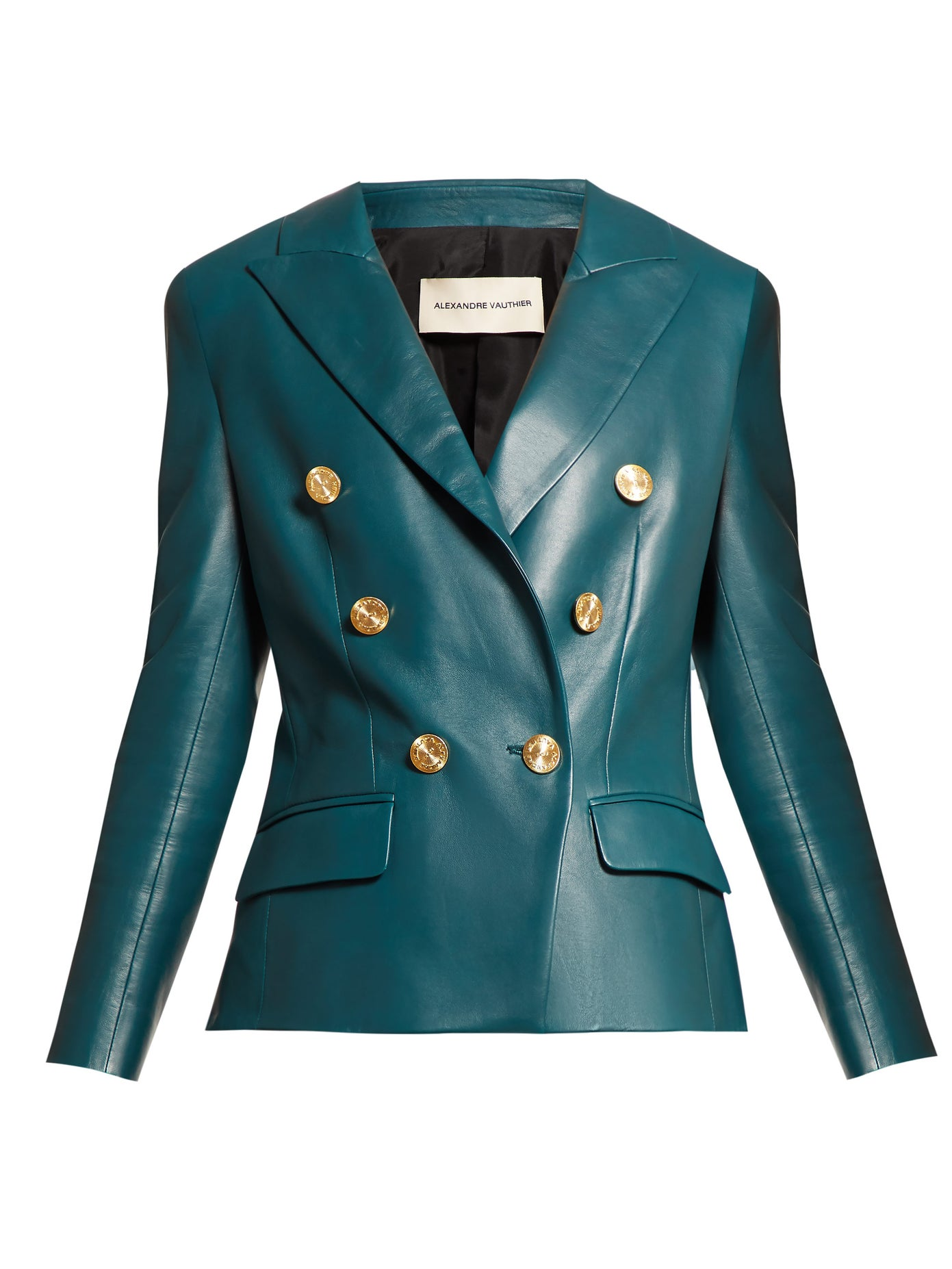 Fall Into Autumn 2019 Colors, forest green, green leather double breasted jacket