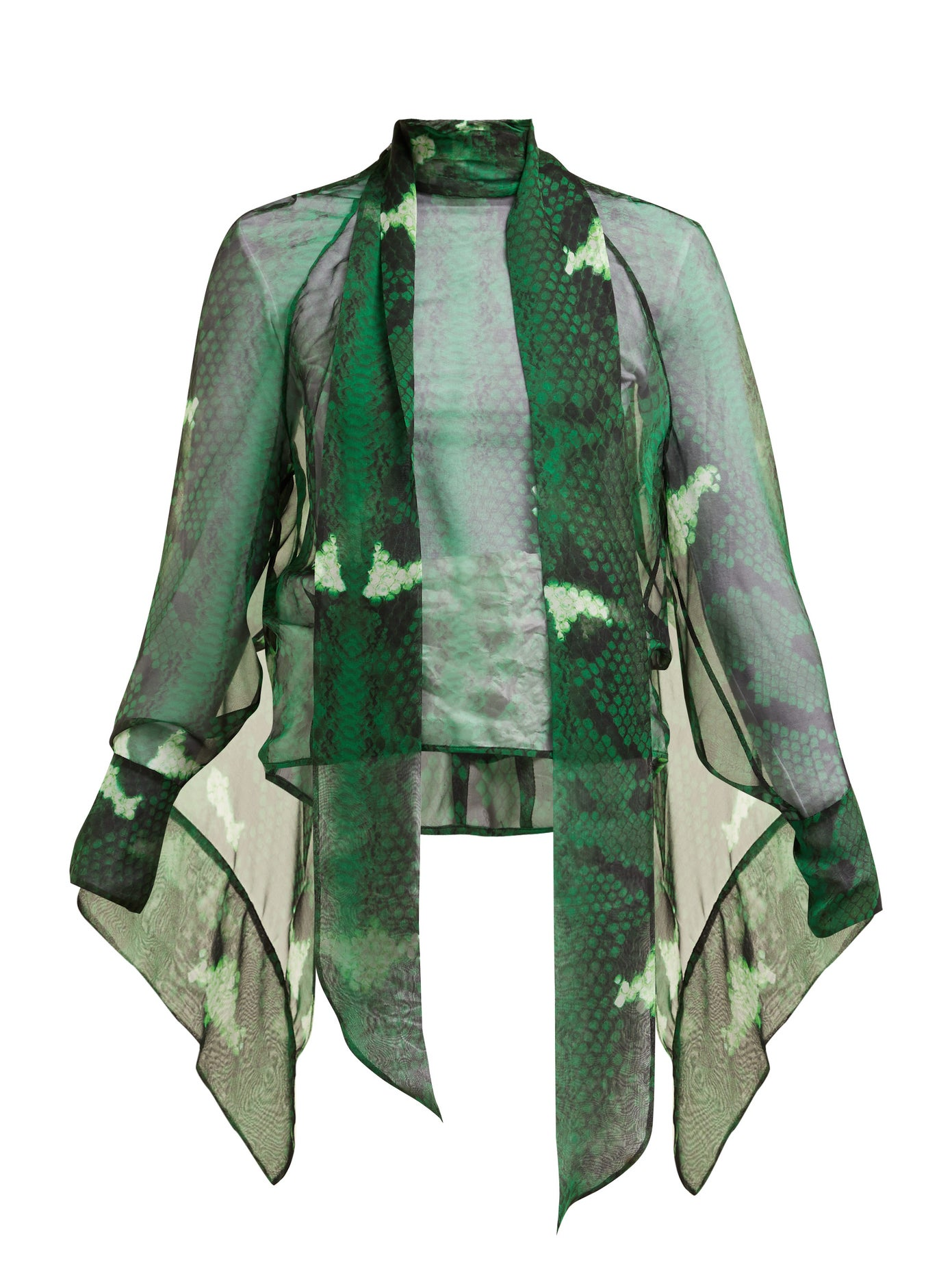 Fall Into Autumn Colors 2019, forest green, Petar Petrov snake print green blouse