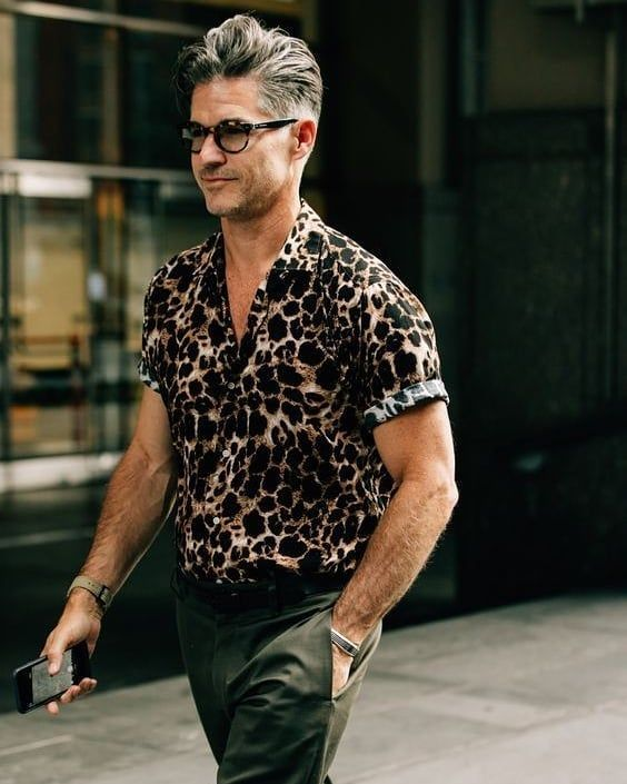 Ease Your Wardrobe Into Fall…Wear Now, Wear Later, men's animal print shirt, men's fall trends