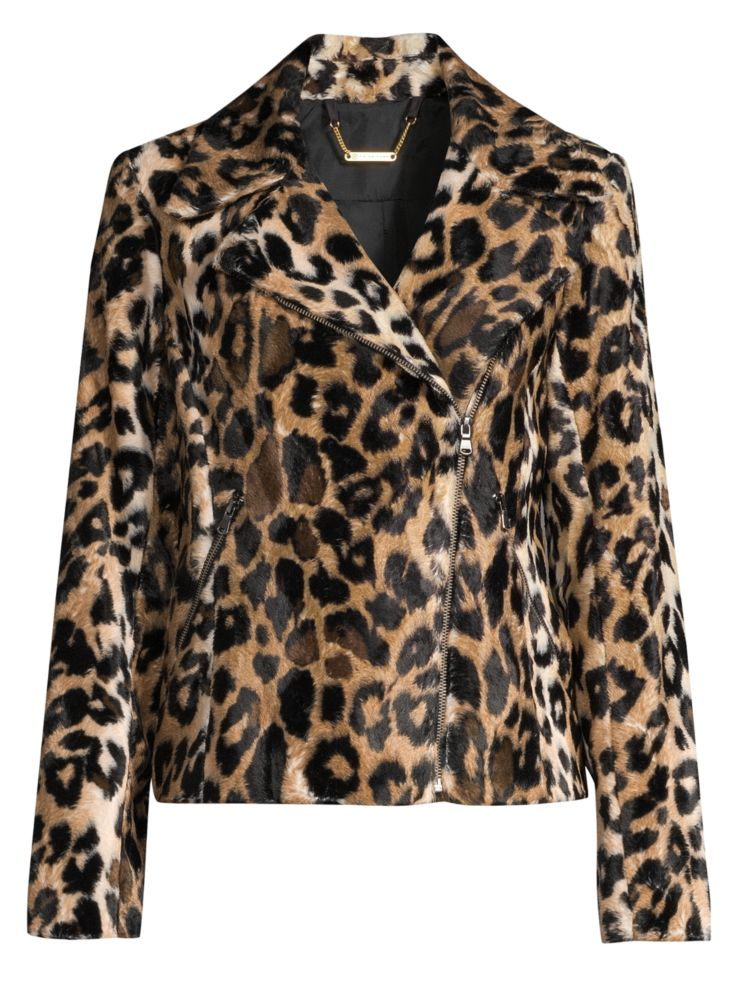 leopard print, leopard fashion, leopard jacket, Trina Turk wine country reprise leopard faux fur moto jacket