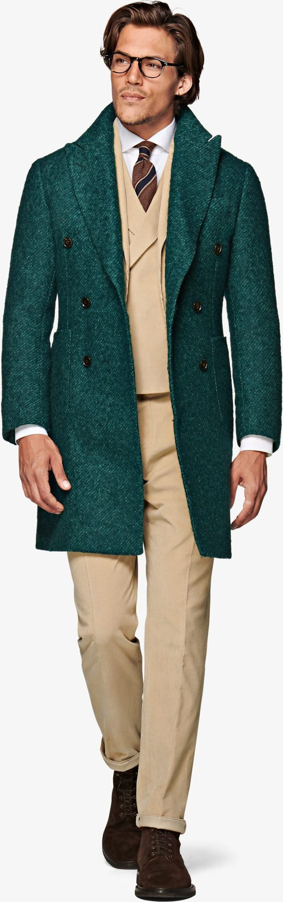 How to Layer for Fall, suitsupply GREEN DOUBLE BREASTED COAT
