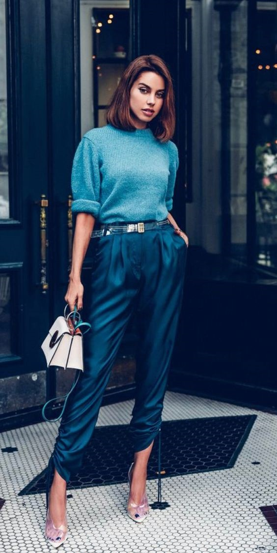 Tonal Dressing, green and blue outfits, Viva Luxury