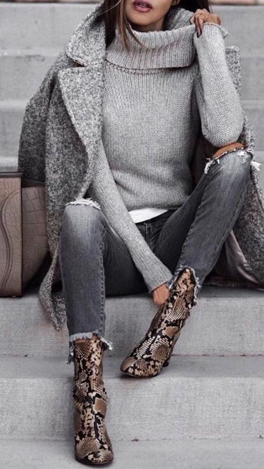 Tonal dressing, shades of gray outfit