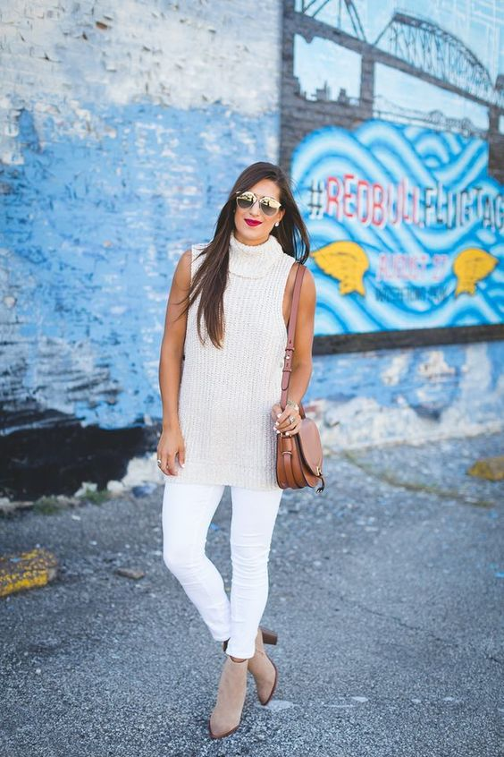 How to Create a Year-Round Capsule Wardrobe with 10 Staples, sleeveless sweater