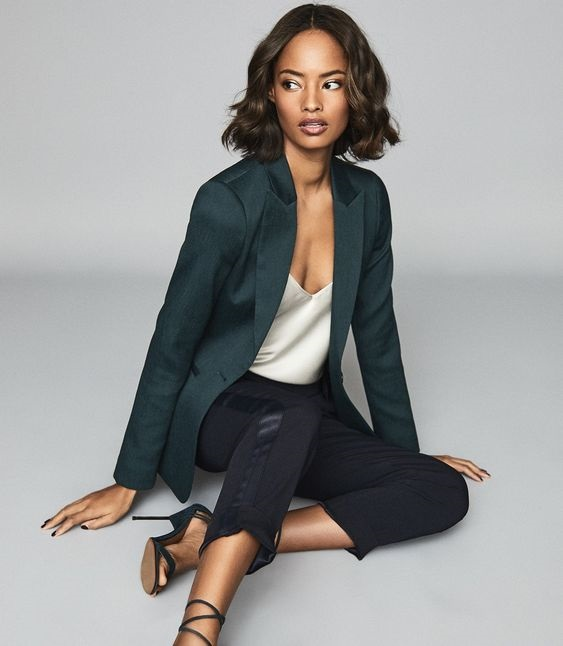How to Create a Year-Round Capsule Wardrobe with 10 Staples, tailored blazer, Reiss textured tailor blazer