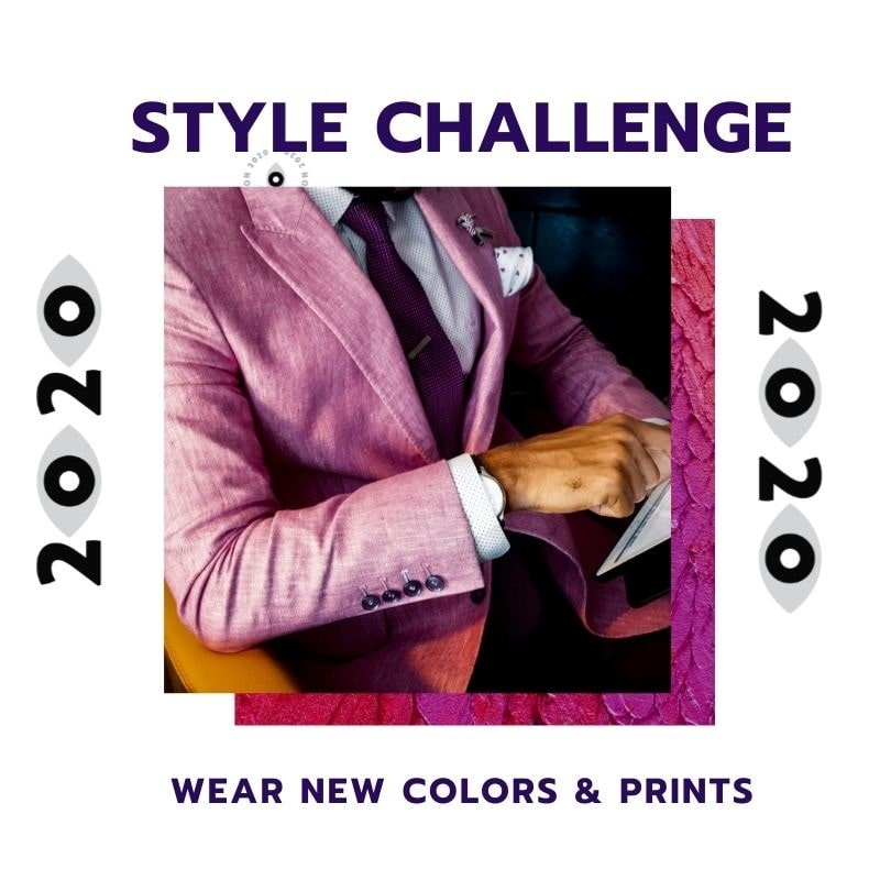 New Year Style Challenge, wear new colors and print clothing, men's color wardrobe