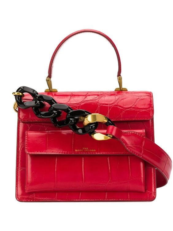 It's A Date: Flirty Looks + Gifts for Valentine's Day, Gifts for her, Marc Jacobs red uptown crocodile embossed handbag